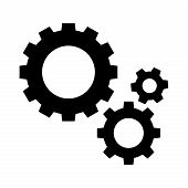 Setting Gears Icon Vector Flat On White Background, Setting Gears Vector Eps10, Gear Refresh Design  poster