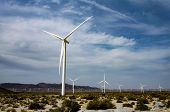 Wind Turbines In The Distance From A Viewpoint Off Of Interstate 8 In The Coachella Valley Of Southe poster