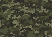 Texture Military Camouflage Seamless Pattern. Abstract Army And Hunting Masking Ornament Repeat poster