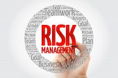 Risk Management Word Cloud With Marker, Business Concept Background poster