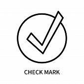 Check Mark Icon Isolated On White Background. Check Mark Icon Simple Sign. Check Mark Icon Trendy An poster