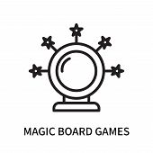 Magic Board Games Icon Isolated On White Background. Magic Board Games Icon Simple Sign. Magic Board poster