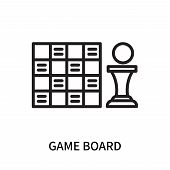 Game Board Icon Isolated On White Background. Game Board Icon Simple Sign. Game Board Icon Trendy An poster