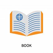 Book Icon Isolated On White Background. Book Icon Simple Sign. Book Icon Trendy And Modern Symbol Fo poster