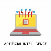 Artificial Intelligence Icon Isolated On White Background. Artificial Intelligence Icon Simple Sign. poster