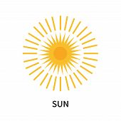 Sun Icon Isolated On White Background. Sun Icon Simple Sign. Sun Icon Trendy And Modern Symbol For G poster