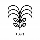 Plant Icon Isolated On White Background. Plant Icon Simple Sign. Plant Icon Trendy And Modern Symbol poster