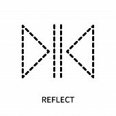 Reflect Icon Isolated On White Background. Reflect Icon Simple Sign. Reflect Icon Trendy And Modern  poster