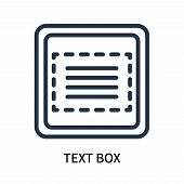 Text Box Icon Isolated On White Background. Text Box Icon Simple Sign. Text Box Icon Trendy And Mode poster