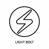 Light Bolt Icon Isolated On White Background. Light Bolt Icon Simple Sign. Light Bolt Icon Trendy An poster