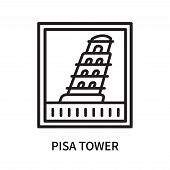 Pisa Tower Icon Isolated On White Background. Pisa Tower Icon Simple Sign. Pisa Tower Icon Trendy An poster