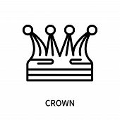 Crown Icon Isolated On White Background. Crown Icon Simple Sign. Crown Icon Trendy And Modern Symbol poster