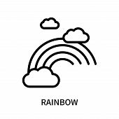 Rainbow Icon Isolated On White Background. Rainbow Icon Simple Sign. Rainbow Icon Trendy And Modern  poster