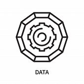 Data Icon Isolated On White Background. Data Icon Simple Sign. Data Icon Trendy And Modern Symbol Fo poster