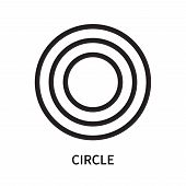 Circle Icon Isolated On White Background. Circle Icon Simple Sign. Circle Icon Trendy And Modern Sym poster
