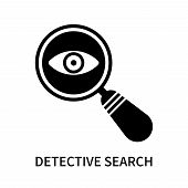Detective Search Icon Isolated On White Background. Detective Search Icon Simple Sign. Detective Sea poster