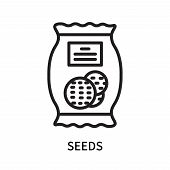 Seeds Icon Isolated On White Background. Seeds Icon Simple Sign. Seeds Icon Trendy And Modern Symbol poster