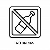 No Drinks Icon Isolated On White Background. No Drinks Icon Simple Sign. No Drinks Icon Trendy And M poster