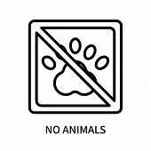 No Animals Icon Isolated On White Background. No Animals Icon Simple Sign. No Animals Icon Trendy An poster