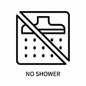 No Shower Icon Isolated On White Background. No Shower Icon Simple Sign. No Shower Icon Trendy And M poster