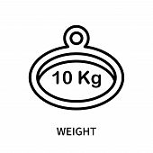Weight Icon Isolated On White Background. Weight Icon Simple Sign. Weight Icon Trendy And Modern Sym poster