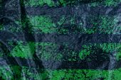 Black Green Plastic Texture From A Piece Of Shabby Cellophane poster