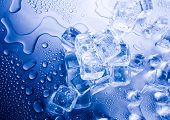 picture of ice-cubes  - Cold - JPG