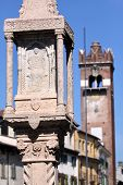 Old Market Column In Verona