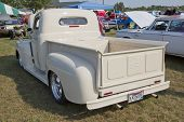 1950 Off White Ford Pickup Rear View