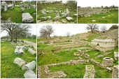 Ruins of ancient troia city