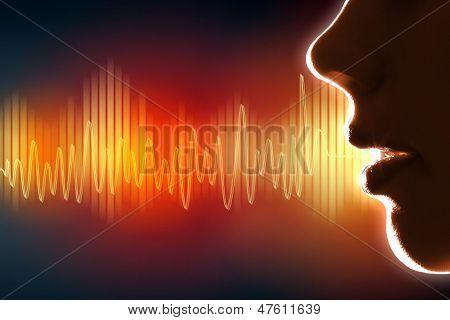 Sound wave illustration poster