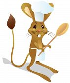 picture of groundhog day  - Jerboa chef with spoon in chef - JPG