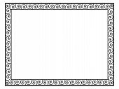 picture of greek  - Greek style black ornamental decorative frame pattern isolated - JPG