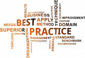 image of self assessment  - A word cloud of best practice related items - JPG
