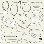 picture of arrow  - Wedding graphic set - JPG