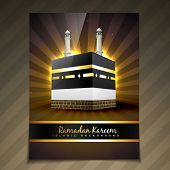 stock photo of namaz  - vector illustration of ramadan festival template design - JPG