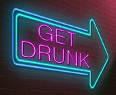 picture of bender  - Illustration depicting an illuminated neon sign with a drunk concept - JPG