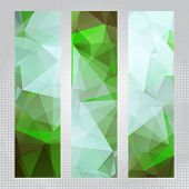 Abstract green vertical banners
