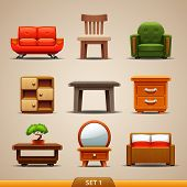 picture of settee  - Furniture icons - JPG