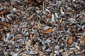 stock photo of ferrous metal  - Pieces of metal separated from plastic from crushed and shredded cars - JPG
