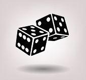 stock photo of dice  - dice cubes - JPG