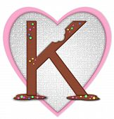 picture of letter k  - The letter K in the alphabet set  - JPG