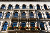 picture of leipzig  - Pan view of beautiful building facade in the city of Leipzig in germany - JPG