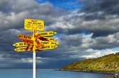 pic of bluff  - Signpost in the Stirling Point - JPG