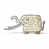 image of mammoth  - cartoon woolly mammoth - JPG