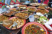pic of stall  - street food stall in central bangkok thailand - JPG