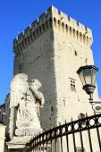 image of avignon  - Angel Statue at the famous Popes Palace square in Avignon France - JPG