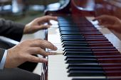 picture of classic art  - The Pianist Hands Playing Classical Piano Music - JPG