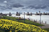 picture of movable  - The Thames Barrier in London England - JPG