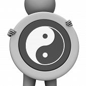 foto of yang  - Yin Yang Indicating Contrasts Yin - JPG